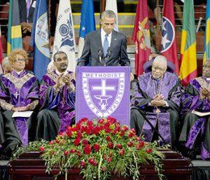 Obama sings, eulogizes victims of SC massacre