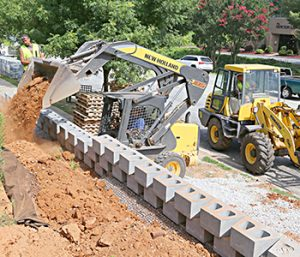 Clemson retaining wall nearing completion | Test