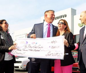 Dealership makes donation to hospital breast care center | Test