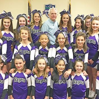 Walhalla council recognizes local cheerleading squad
