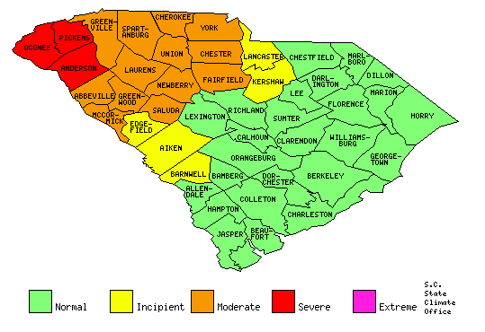 Oconee, Pickens counties remain in severe drought   Test
