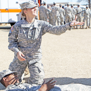 Clemson ROTC cadets host first-aid lab for community