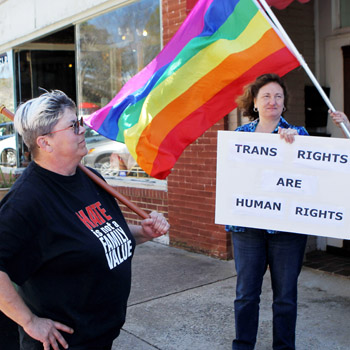 Pendleton LGBTQ activists hold rally at senator's office | Test