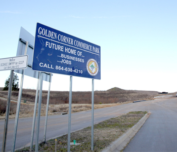 Funding approved for Golden Corner Commerce Park road project | Test