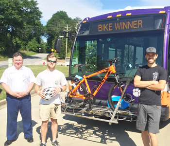 Clemson University student wins CAT bike giveaway | Test