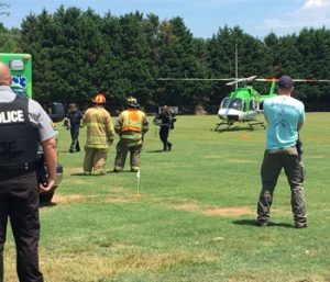 Man airlifted to burn center | Test