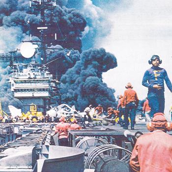 Local man recalls experience aboard the fiery USS Forrestal   Test