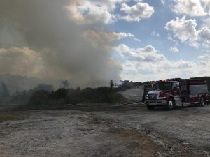 Firefighters battle landfill blaze | Test