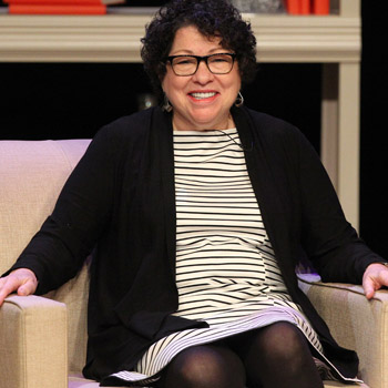 Sotomayor urges Clemson crowd to have courage