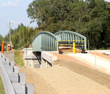 Ribbon-cutting today for new Green Crescent Trail bridge   Test