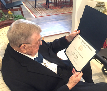 Clemson resident, veteran of three wars honored by state official