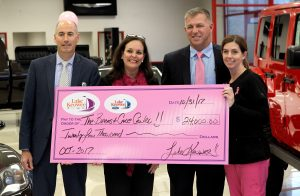 Local dealerships present $24K check to OMH Breast Care Center | Test