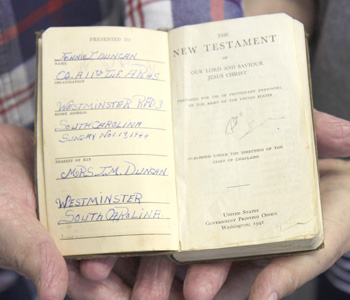 Bible picked up on WWII battlefield returning home | Test