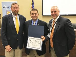 Daniel recognized for high grad rate | Test