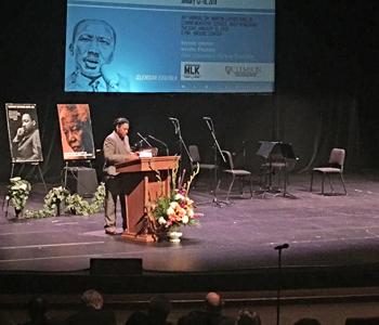 Pinckney honors late husband at MLK celebration