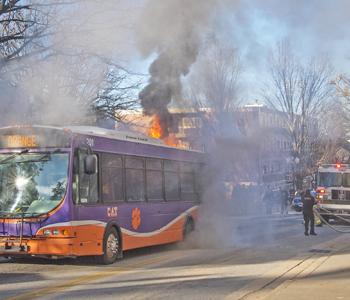 No injuries as CAT bus burns on Clemson campus | Test
