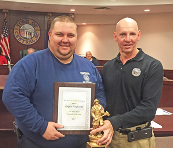 Elijah Reynolds honored as Central's top firefighter | Test