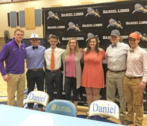 Daniel celebrates seven athletes on signing day | Test