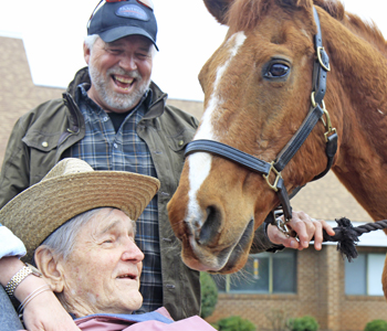 Clemson Downs resident receives special equine visit | Test