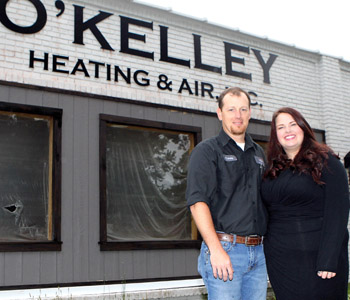 O'Kelley Heating and Air owner Corey Black guided by past