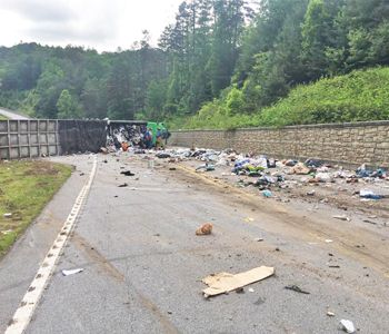 Overturned tractor-trailer forces hour-long delay near Georgia state line   Test