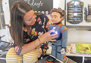 Interactive robot helping special needs students at Northside | Test