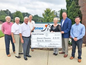 Knights of Columbus donate to Area 13 Special Olympics | Test
