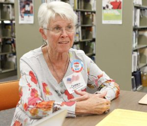 Voter registration event held at Seneca library