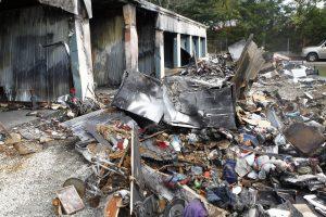 Fire destroys storage units, contents