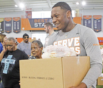Tigers give back with annual service project