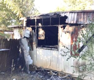 Mobile home destroyed by fire | Test