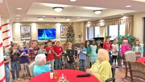 Clemson Elementary students spread holiday cheer