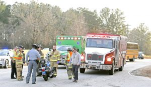 Motorcyclist injured after wreck with full school bus   Test