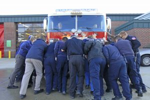 Firefighters hold ceremony to welcome new truck