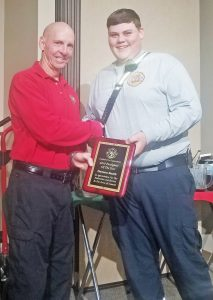 Teen named Central's top firefighter