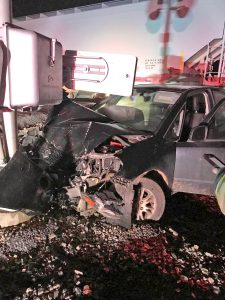 No one injured after train hits car   Test