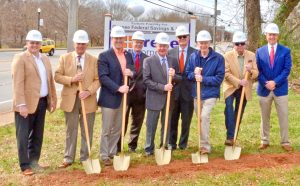Oconee Federal Savings and Loan officials break ground for Clemson branch