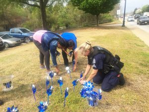 Clemson police, agency officials raise awareness of victims' rights week