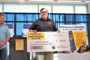Campbell named Pickens County Scholar Technician of the Year | Test