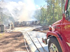 Fire rips through newly built lake house in Salem   Test