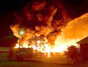 Oconee County aids in Gaffney fire fight