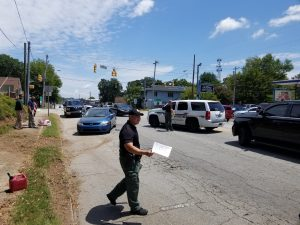 Downtown Seneca police pursuit ends with car accident, arrest