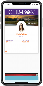 Clemson student IDs go mobile