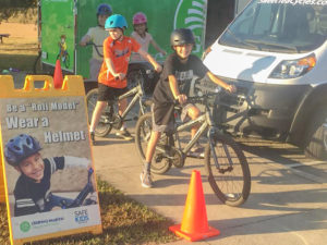 Clemson Elementary students learn bike safety through special program