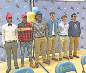 Six Daniel athletes sign letters of intent